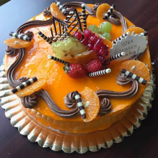 Tort portocale ciocolată