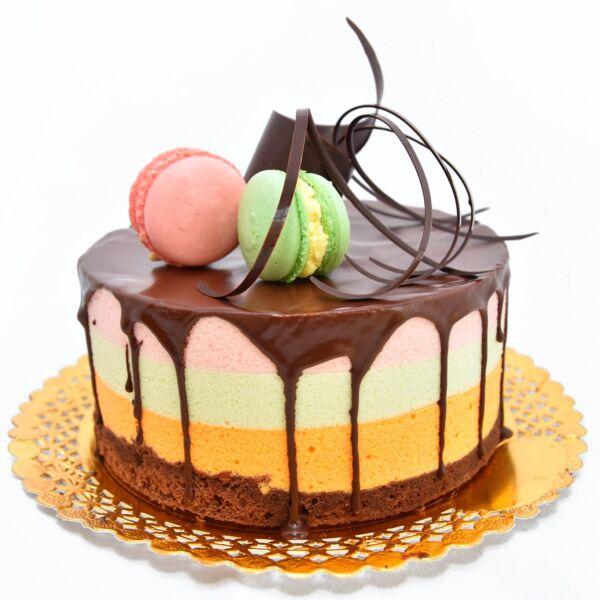 Tort Trei Ciocolate cu fructe